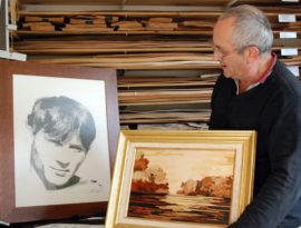Jean Grosdemouge, artiste marqueteur et portraitiste à Moux